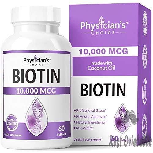 Biotin 10000mcg with Coconut Oil