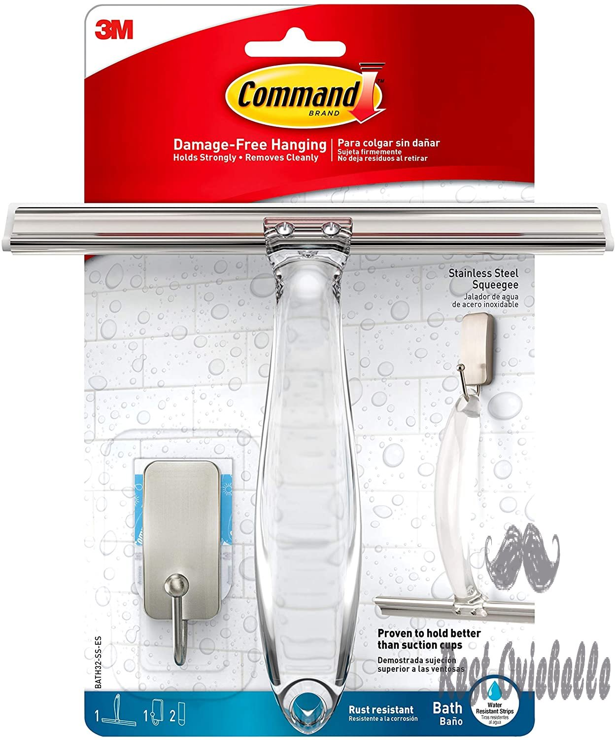 Command Bath Shower Squeegee and